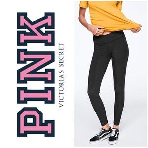NWT PINK Soft Cotton Dark Grey Essential Leggings